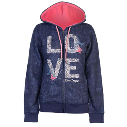 Hoodies dama Lee Cooper navy marble