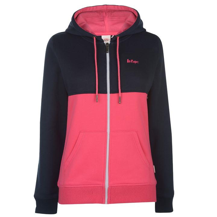 Hoodies dama Lee Cooper roz navy
