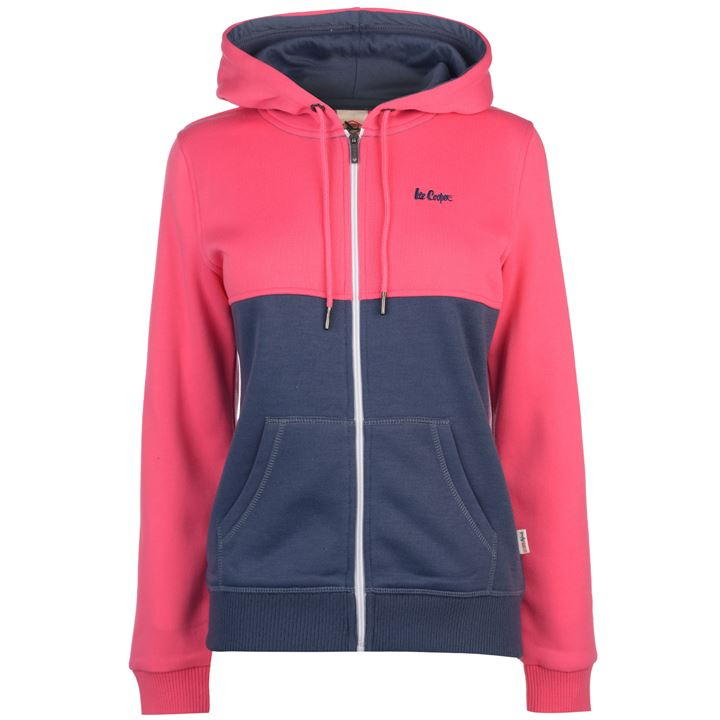 Hoodies dama Lee Cooper roz denim gluga